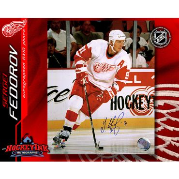 Sergei Fedorov Detroit Red Wings 8 x 10 Autographed Photo