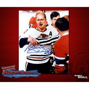 Bobby Hull Chicago Blackhawks 8 x 10 Autographed Photo