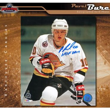Pavel Bure Vancouver Canucks Autographed and HOF Inscribed 8 x 10 Photo