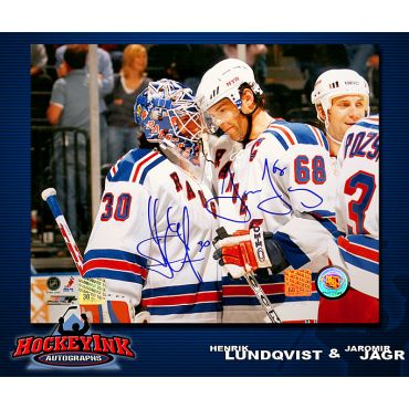 Henrik Lundqvist and Jaromir Jagr New York Rangers 8 x 10 Autographed Photo