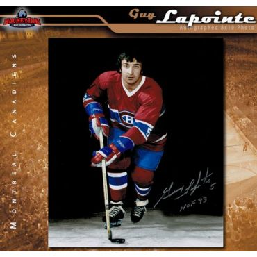 Guy Lapointe Montreal Canadiens 8 x 10 Autographed Photo