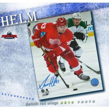 Darren Helm Detroit Red Wings 8 x 10 Autographed Photo