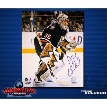 Dwayne Roloson Edmonton Oilers 8 x 10 Autographed Photo