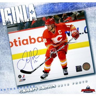 Jarome Iginla Calgary Flames 8 x 10 Autographed Photo