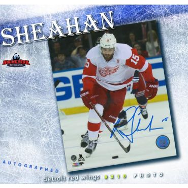 Riley Sheahan Detroit Red Wings 8 x 10 Autographed Photo