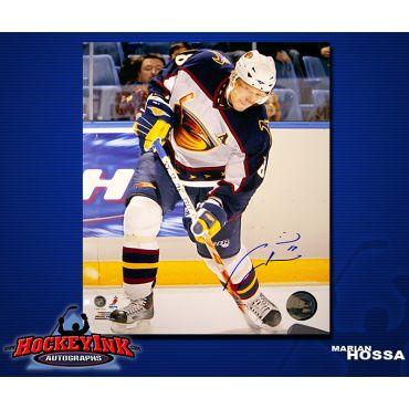 Marian Hossa Atlanta Thrashers 8 x 10 Autographed Photo