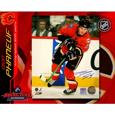 Dion Phaneuf Calgary Flames 8 x 10 Autographed Photo