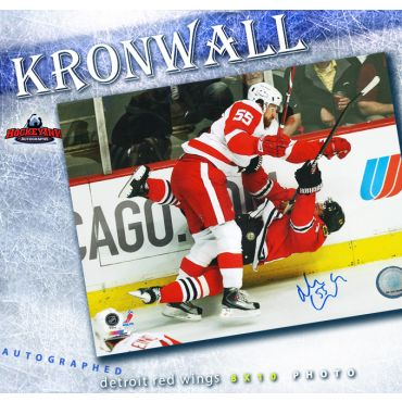 Niklas Kronwall Detroit Red Wings Autographed 8 x 10 Photo