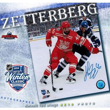 Henrik Zetterberg 2014 Winter Classic 8 x 10 Autographed Photo