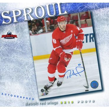 Ryan Sproul Detroit Red Wings 8 x 10 Autographed Photo