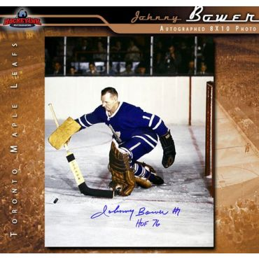 Johnny Bower Toronto Maple Leafs 8 x 10 Autographed Photo