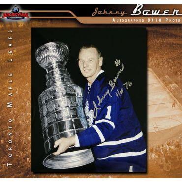 Johnny Bower Toronto Maple Leafs 8 x 10 Autographed Photo