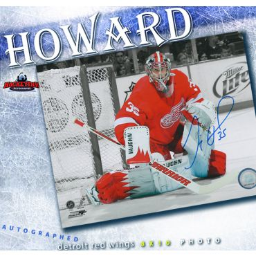 Jimmy Howard Autographed Detroit Red Wings 8 x 10 Photo