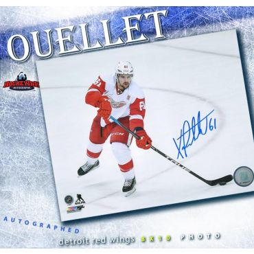 Xavier Ouellet Detroit Red Wings 8 x 10 Autographed Photo