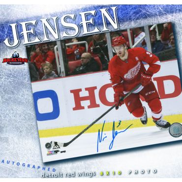 Nick Jensen Autographed Detroit Red Wings 8 x 10 Photo