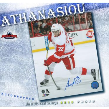 Andreas Athanasiou Detroit Red Wings 8 x 10 Autographed Photo
