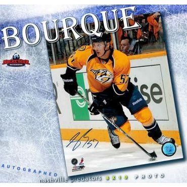 Gabriel Bourque Nashville Predators Autographed 8 x 10 Photo