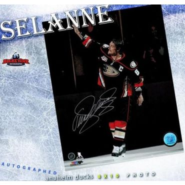 Teemu Selanne Anaheim Ducks Autographed 8 x 10 Photo