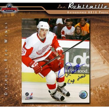 Luc Robitaille Detroit Red Wings 8 x 10 Autographed Photo
