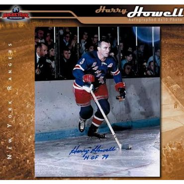 Harry Howell New York Rangers Autographed 8 x 10 Photo