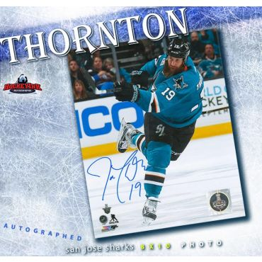Joe Thornton San Jose Sharks Autographed 8 x 10 Photo