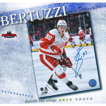 Tyler Bertuzzi Detroit Red Wings 8 x 10 Autographed Photo