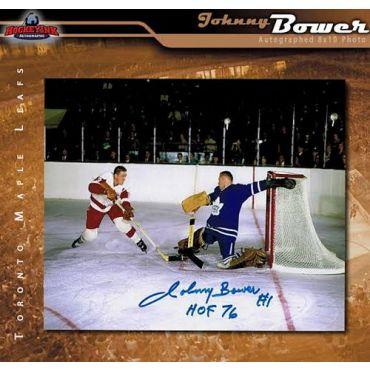 Johnny Bower Toronto Maple Leafs Autographed 8 x 10 Photo