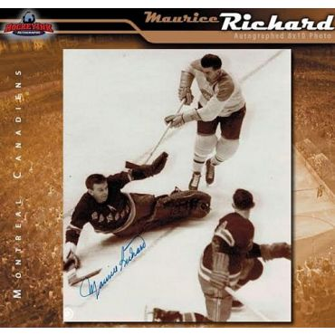 Maurice Richard Montreal Canadiens Autographed 8 x 10 Photo