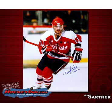 Mike Gartner 16 x 20 Autographed Photo