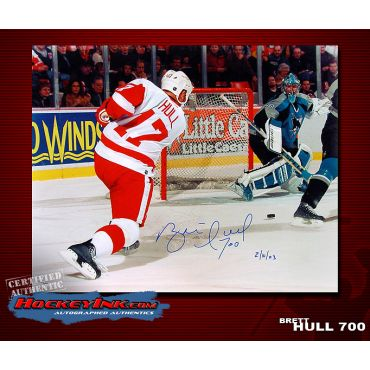Brett Hull Goal 700 Limited Edition 16 x 20 Autographed Photo