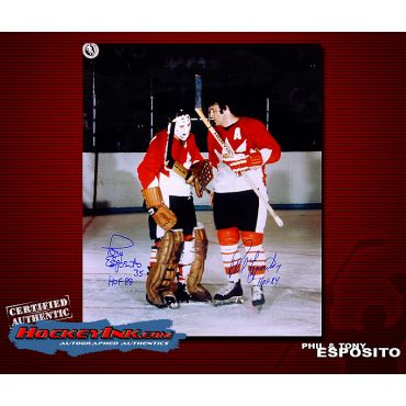 Tony and Phil Esposito Team Canada 16 x 20 Autographed Photo