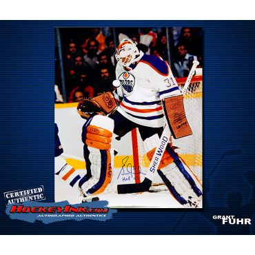 Grant Fuhr Home Action  16 x 20 Autographed Photo