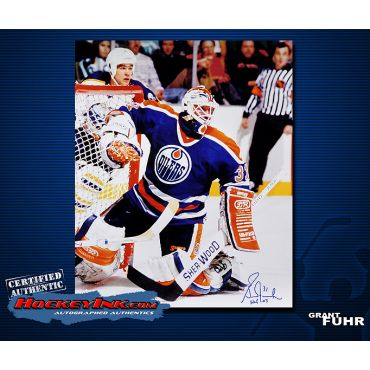 Grant Fuhr Road Action  16 x 20 Autographed Photo