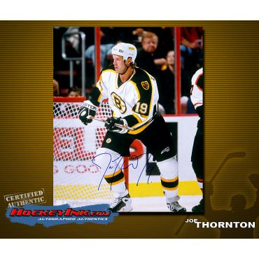 Joe Thornton  Road Action 16 x 20 Autographed Photo