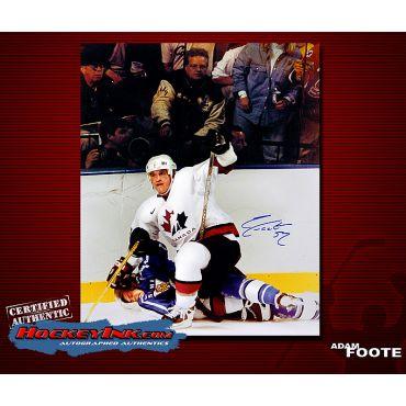 Adam Foote Team Canada 16 x 20 Autographed Photo