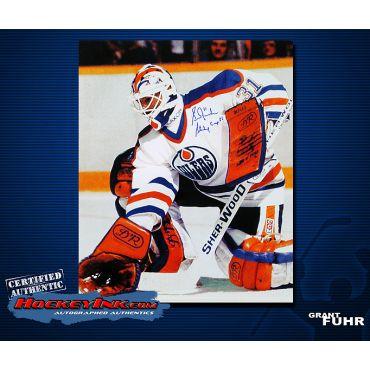 Grant Fuhr Edmonton Oilers  16 x 20 Autographed Photo