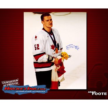 Adam Foote Team Canada 16 x 20 Autographed Photo