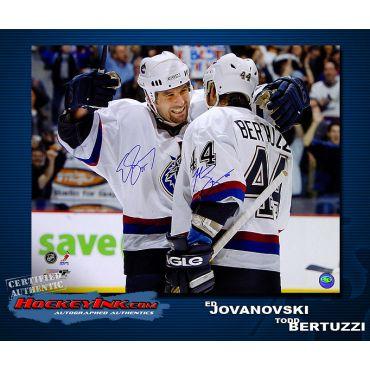 Ed Jovanovski and Todd Bertuzzi Vancouver Canucks 16 x 20 Autographed Photo