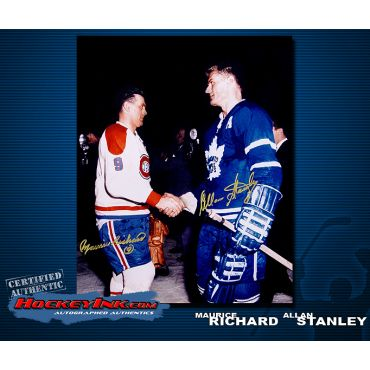 Maurice Richard and Allan Stanley 16 x 20 Autographed Photo