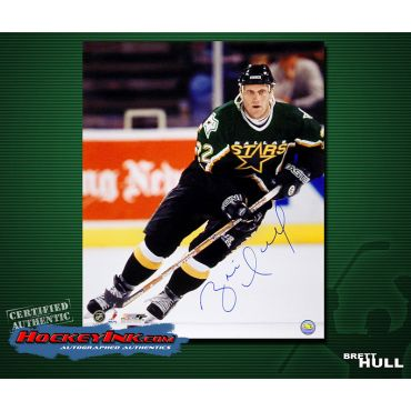 Brett Hull Dallas Stars 16 x 20 Autographed Photo