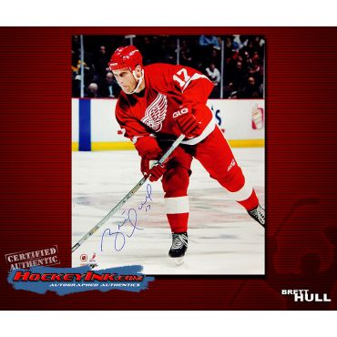 Brett Hull Detroit Red Wings 16 x 20 Autographed Photo