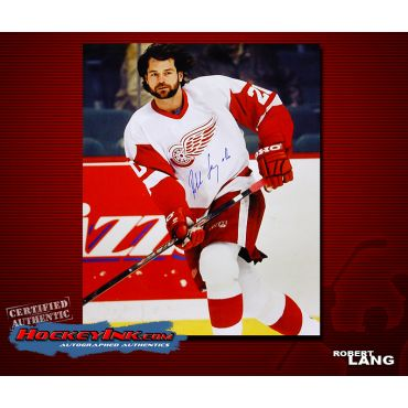 Robert Lang Detroit Red Wings 16 x 20 Autographed Photo