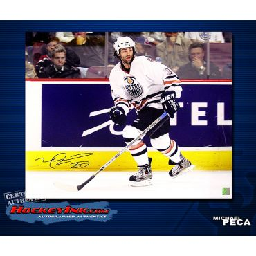 Michael Peca Edmonton Oilers 16 x 20 Autographed Photo