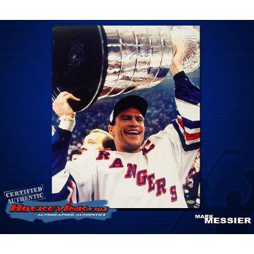 Mark Messier New York Rangers 16 x 20 Autographed Photo