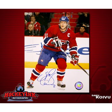 Saku Koivu Montreal Canadiens 16 x 20 Autographed Photo