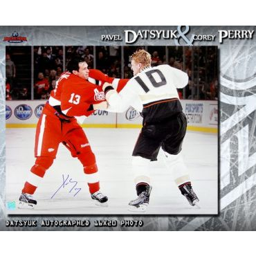 Pavel Datsyuk with Corey Perry  Detroit Red Wings 16 x 20 Autographed Photo