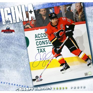 Jarome Iginla Calgary Flames 16 x 20 Autographed Photo