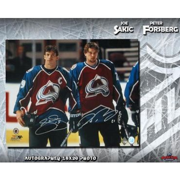 Peter Forsberg and Joe Sakic Colorado Avalanche 16 x 20 Autographed Photo