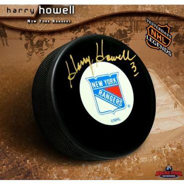 Harry Howell New York Rangers Autographed Hockey Puck
