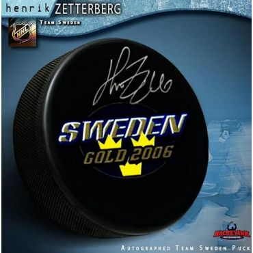 Henrik Zetterberg 2006 Team Sweden Autographed Hockey Puck